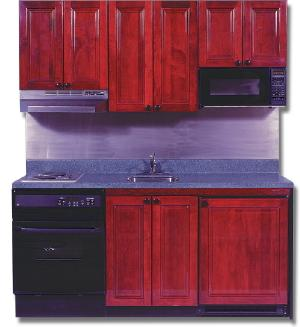 Great Most Mini Kitchens Made By Other Manufacturers Feature Exposed Appliances  And Keep The Messy Countertop In View At All Times. The 72u2033 Wide  Mini Kitchen ...