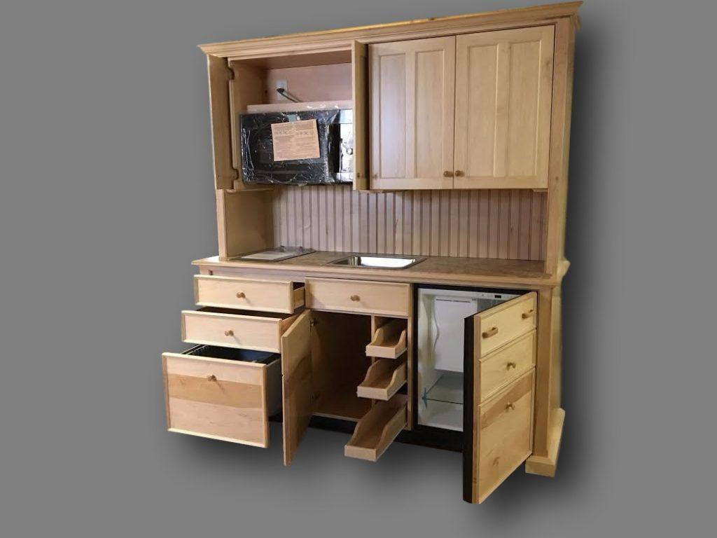 Beautiful If You Donu0027t Need To Hide The Counter Top, Cooktop And Sink, This Hutch  Style Mini Kitchen Allows The Length Of The Kitchen To Be Bigger.