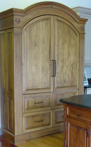 Merveilleux Another Arched Top Refrigerator/pantry Armoire And An Island Sink Unit Is  Used In This Great Room (below) That Includes Custom Designed Cabinetry.