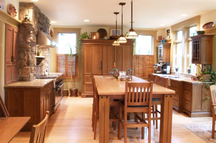 architect's craftsman style kitchen | yestertec kitchen works